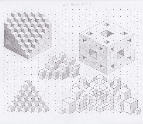 Whitelines - 3D 30 30 Isometric Grid Pad - A4 (21x30cm - isometric dot paper