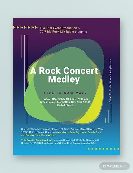 Concert Flyer Concert Flyer Flyer Template Templates