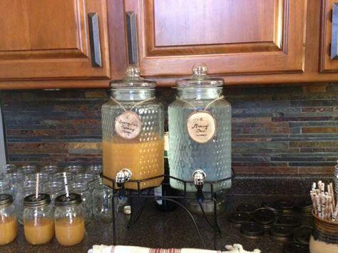 Woodland baby shower beverages: Spring Lake Sparkling Cider and Morning Dew. https://eventsbysocialgraces.com/2011/11/04/cheers-apple-cider-punch/
