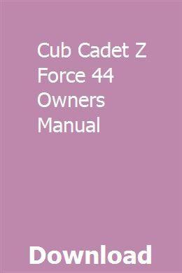 Cub Cadet Z Force 44 Wiring Diagram    Wiring Diagram
