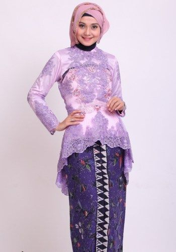Model Kebaya Modern Dengan Lengan Panjang Warna Ungu Kbaya Model