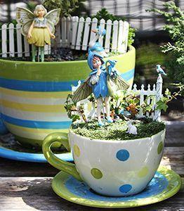Teacup Fairy Garden 52 Teacupart Fairy Garden Flowers Fiddlehead Fairy Garden Mini Fairy Garden