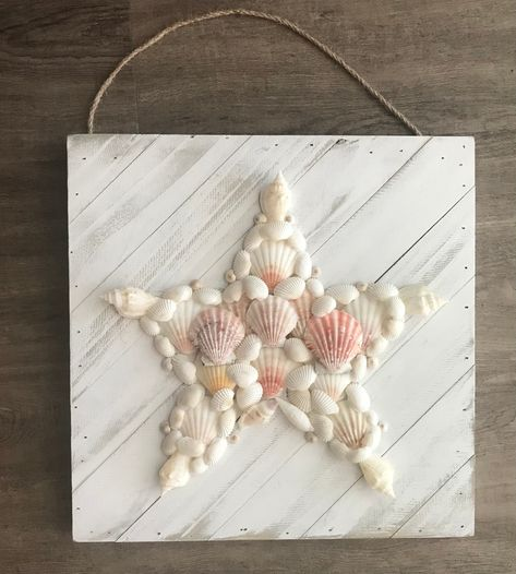 Excited to share the latest addition to my #etsy shop: Seashell Star Wall Art on Wood
