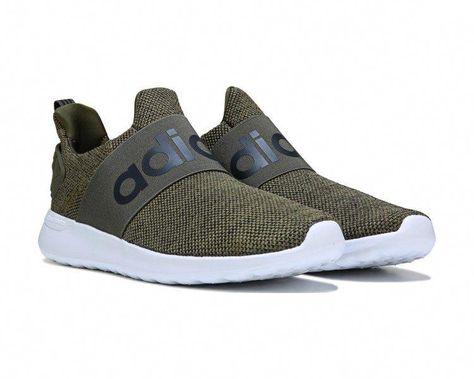 f633003cdf37e2 adidas Cloudfoam Adapt Slip On Sneaker Olive White  MensFashionSneakers