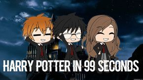 Harry Potter In 99 Seconds Gacha Life Artist Painting Anime Harry Potter