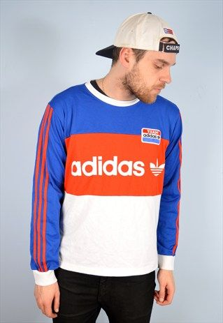 Vintage Colourblock Trefoil Adidas Crewneck Sweatshirt