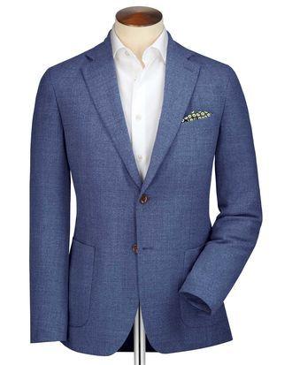 Slim Fit Light Blue Italian Wool Blazer Light Blue Suit Blazer Wool Blazer