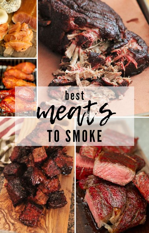 If you're looking for a comprehensive post all about the Best Meats to Smoke, yo. - If you're looking for a comprehensive post all about the Best Meats to Smoke, yo… – - Smoked Pulled Pork, Smoked Beef Brisket, Pellet Grill Recipes, Grilling Recipes, Electric Smoker Recipes, Grilling Tips, Smoked Meat Recipes, Beef Recipes, Sushi Recipes