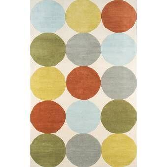 Novogratz Agatha Polka Dots Handmade Tufted Wool Pastel Pink Sage Area Rug Reviews Perigold In 2020 Wool Area Rugs Area Rug Decor Area Rugs