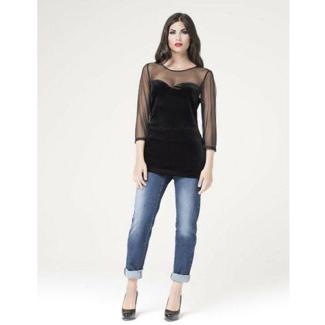 3dbb1f571d Moda curvy sexy maglia trasparente Donna Gi | LORCASTYLE