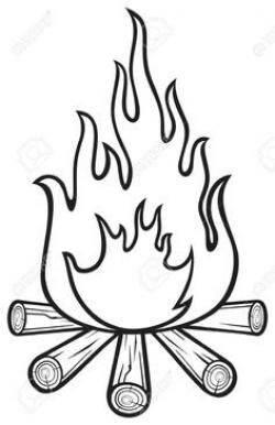 Campfire Black And White Clipart Transparent 37 84kb 236x365 Coloring Pages Camping Clipart Camping Crafts