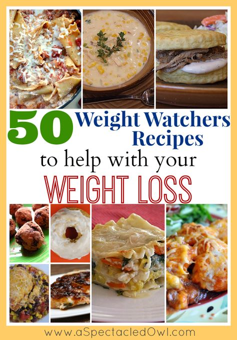 50 Weight Watchers Recipes to Help You with Your Weight Loss @Tara Harmon {A Spectacled Owl}