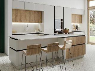 Matt Kitchen Light Grey Wood Mast Wnetrza Kuchnia Domy