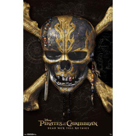 Trends International Pirates of the Caribbean Dead Men Tell No Tales Skull ; Crossbones Wall Poster 22.375 inch x 34 inch
