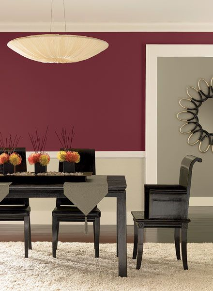 Dining Room Ideas & Inspiration  Wall Paint Colours Room Ideas New Red Dining Rooms Review