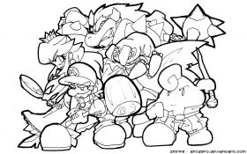 10 Pics Of Mario Smash Bros Coloring Page Super Mario Characters