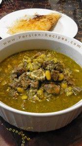 Khoresht-e Baghala ba Goosht (Lima Bean Stew with Meat) - Persian Recipes