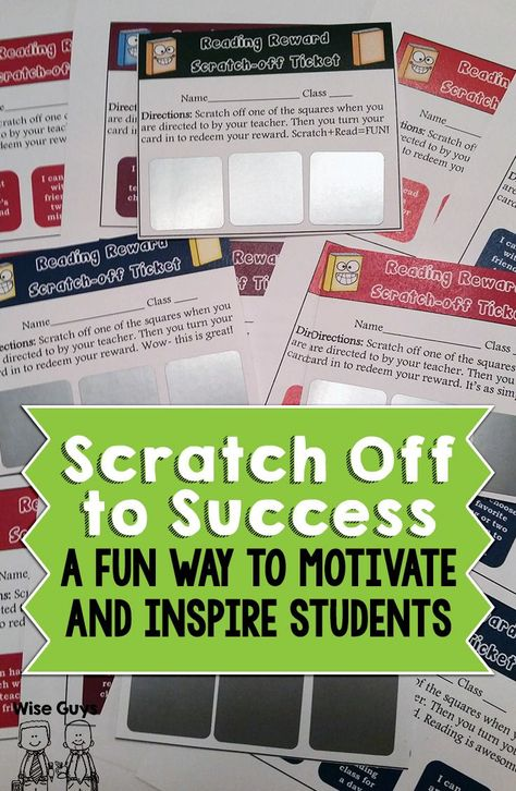 Scratch Off Tickets for the Classroom-Wise Guys: Inspire and motivate your students with these fun scratch-off ticket rewards. They're easy to make, here's how!
