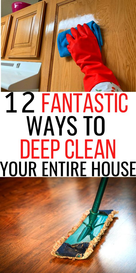 House Cleaning Checklist, Diy Home Cleaning, Household Cleaning Tips, Deep Cleaning Tips, Cleaning Recipes, Natural Cleaning Products, Cleaning Solutions, Spring Cleaning, Cleaning Hacks