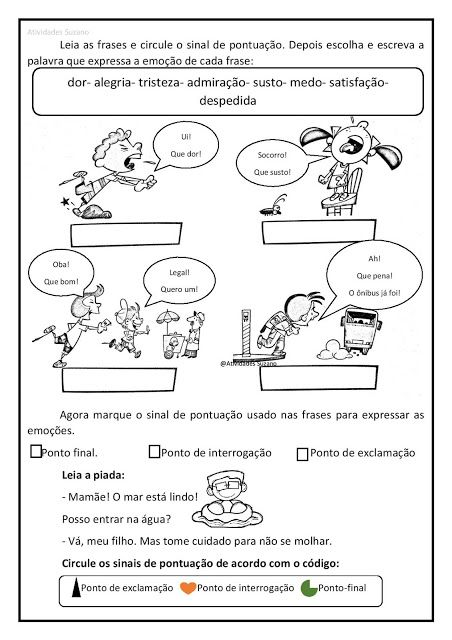 Sinais De Pontuacao Em Pdf Atividades Pedagogica Suzano Sinais