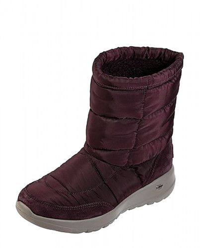 Skechers On The Go Joy Stay Cozy Burgundy Quilted Comfort Ankle
