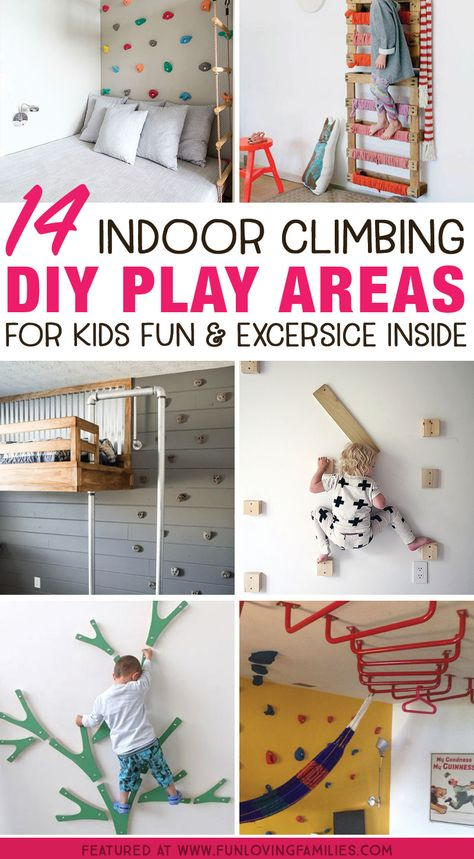 Indoor play for kids: Make an indoor climbing space for kids fun and exercise in., Indoor play for kids: Make an indoor climbing space for kids fun and exercise in…, Kids Indoor Play Area, Indoor Games For Kids, Diy For Kids, Indoor Jungle Gym, Kids Indoor Playground, Play Room For Kids, Bedroom For Kids, Indoor Playroom, Toddler Playroom