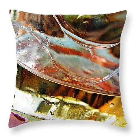 Oil and Water 42 Throw Pillow  http://fineartamerica.com/products/oil-and-water-42-sarah-loft-throw..  #throwpillows #sarahloft #photography #abstract