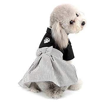 Selmai Pet Kimono Costume Formal Girl Dog Dress And Boy Dog