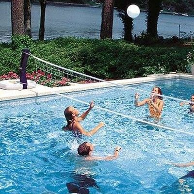 Swimways 2 In 1 Volleyball And Basketball Swimming Pool Water Game Set 6 Pack Cool Swimming Pools Swimming Pool Games Swimming Pool Water