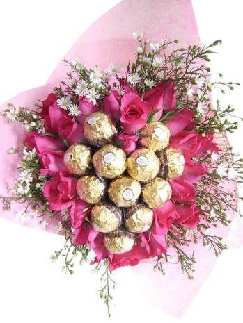 Ferrero Rocher Bouquet Delivery In Philippines Flower Bouquet Delivery Online Flower Shop Ferrero Rocher Bouquet