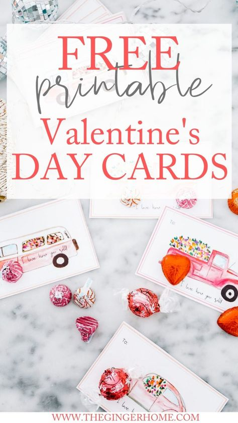 Free Printable Valentine's Day Cards - The Ginger Home