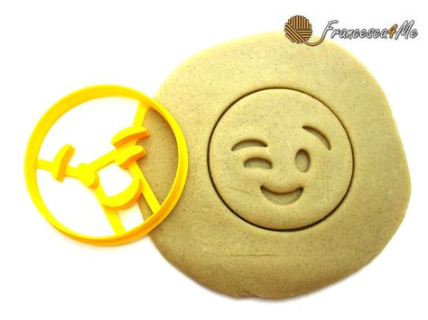 Winky Face Emoji Cookie Cutter/ Multi-Size by on Etsy