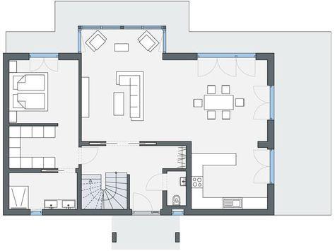 Plan maison en v gratuit plan maison Pinterest