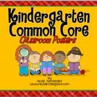 """These Common Core  """"I Can"""" Statement Posters for Kindergarten were created in simple, kid-friendly language just for your kiddos. Each poster cont..."""