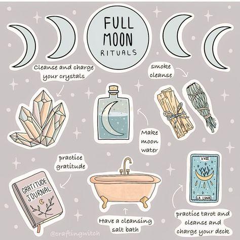 """Charm in a Tea on Instagram: """"🌕 Hier c'est la pleine Lune ! Vous en avez profité pour faire quoi ?  Voilà quelques petits rituels que j'aime beaucoup faire :  🌖 Tout…"""""""