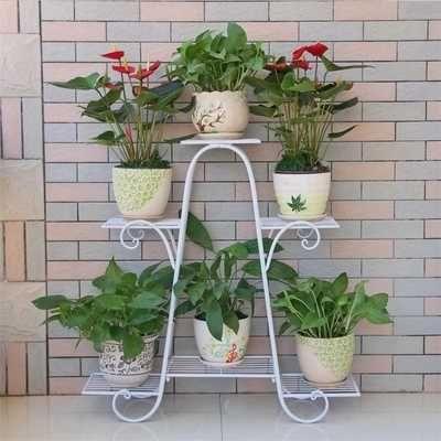 European Style Multi Storey Flower Rack Green Balcony Living Room