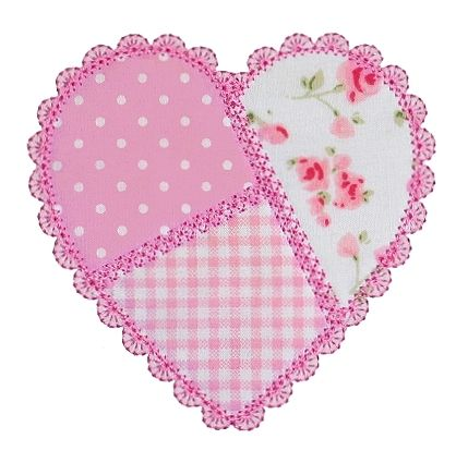 Free Hand Applique Patterns | GG Designs Embroidery - Patchwork Heart Applique. Corazón