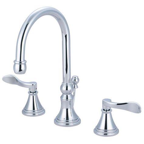 Kingston Brass French 8 In Widespread 2 Handle High Arc Bathroom