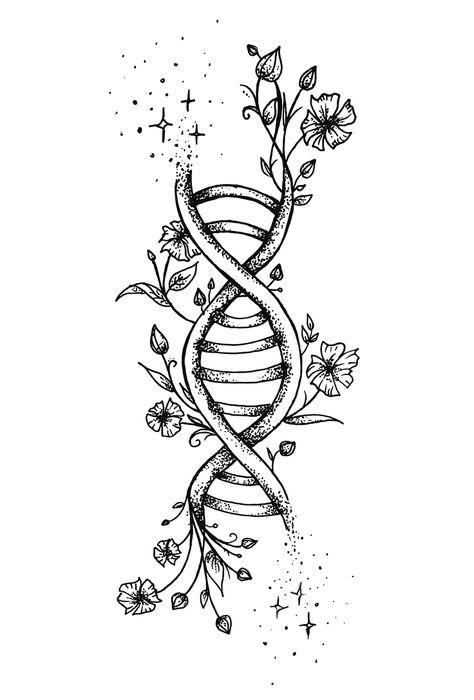 Photo tattoo Julia ShinShin Shingreeva - Tattoo Flowers with . - Photo tattoo Julia ShinShin Shingreeva - Tattoo Flowers with . Photo tattoo Julia ShinShin Shingreeva - Tattoo Flowers with . Nature Tattoos, Inspirational Tattoos, Art Drawings Simple, Body Art Tattoos, Tattoos, Art Drawings, Art Tattoo, Dna Tattoo, Tattoo Designs