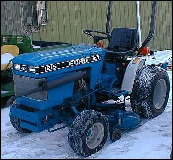 Ford New Holland 1215 3 Cylinder Compact Tractor Master