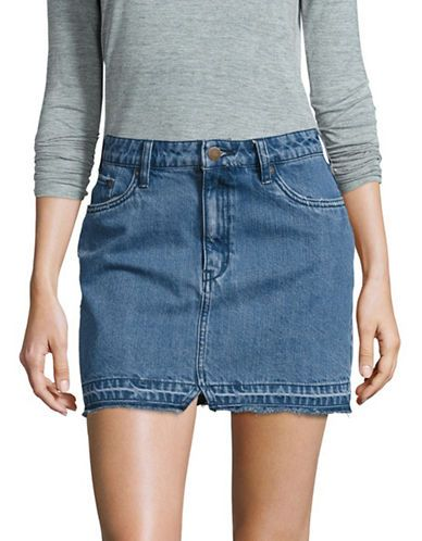 338ca0548b233 Free People Step Up Denim Mini Skirt Women s Dark Denim 0