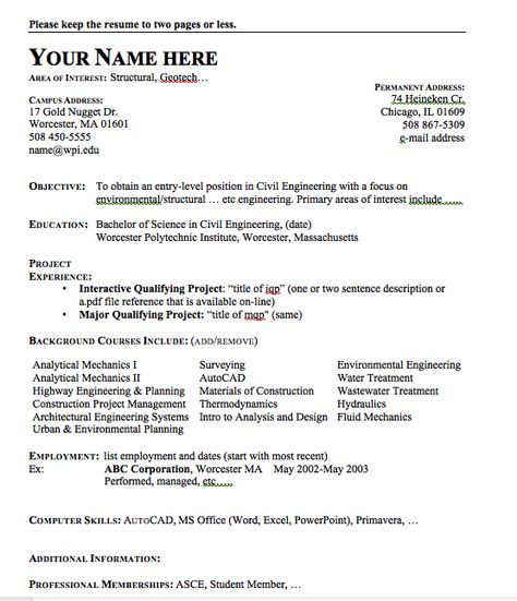 Example Of Civil Engineer Resume - http\/\/resumesdesign - legislative aide sample resume