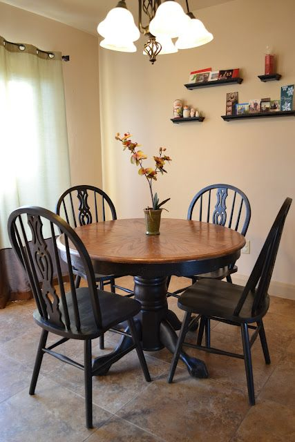 Black Painting Dining Table With Stained Top Gives It A More Country/casual  Feel | Kitchen | Pinterest | Black Painting, Country Casual And Refinish  Dining ...