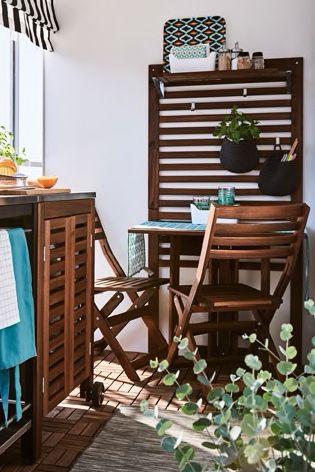 Askholmen Wandtisch 2 Klappstuhle Aussen Graubraun Lasiert Ikea Deutschland Wandtisch Gartenmobel Sets Aussenmobel