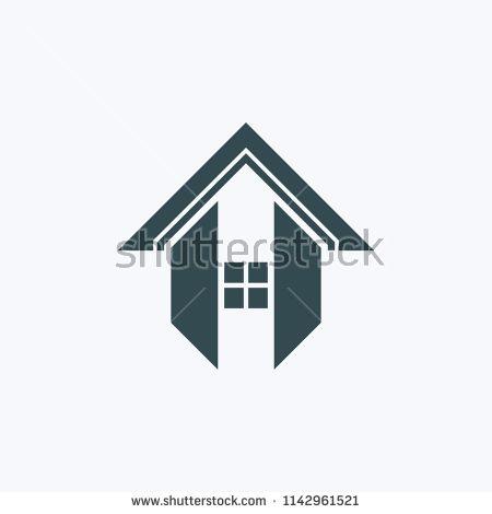 Letter H Logo Roof Logo Vector H Logos Vector Illustration Vector Logo