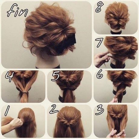 Messy Bun Tutorial For Short Hair Foto Video Hair Styles Short Hair Updo Short Hair Styles