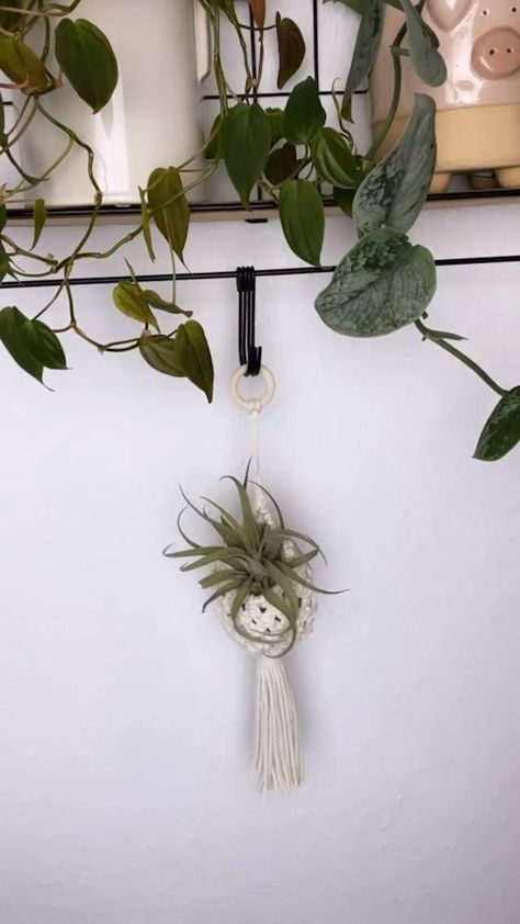 Your cutest plants deserve a home just as cute. Watch as Etsy seller Luna Crafts Online makes this mini macramé plant hanger by hand.