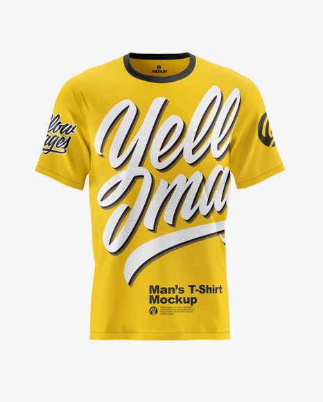 Download Men S Short Sleeve T Shirt Mockup Front View In Apparel Mockups On Yellow Images Object Mockups Shirt Mockup Clothing Mockup Men Short Sleeve