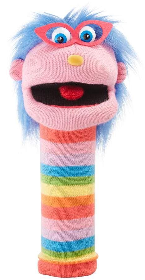The Puppet Company Rainbow Gloria Knit Hand Puppet Sponsored