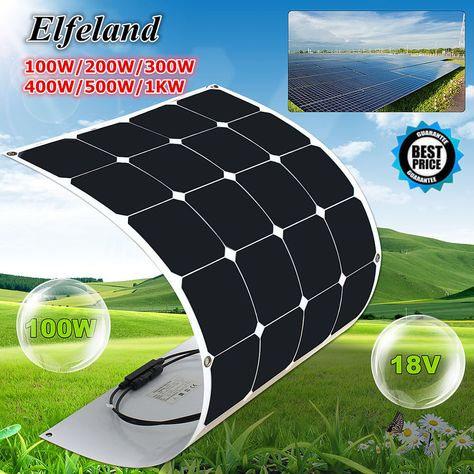 Find Many Great New Used Options And Get The Best Deals For 100w 200w 300w 400w 500w 1kw Elfeland Semi Flexi Energia Solar Por Do Sol Materiais De Construcao